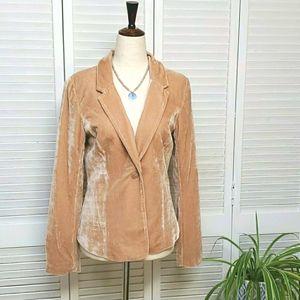 Kensie Size S Velvet tan blazer. New listing! EUC